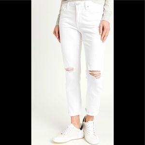 Distressed White Jeans Size 28 Quality Just Black